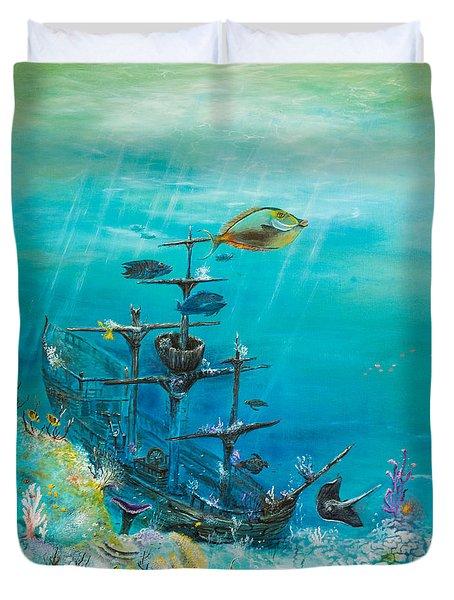 Sunken Ship Habitat Duvet Cover by John Garland  Tyson