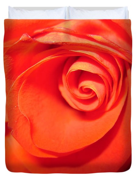 Sunkissed Orange Rose 9 Duvet Cover
