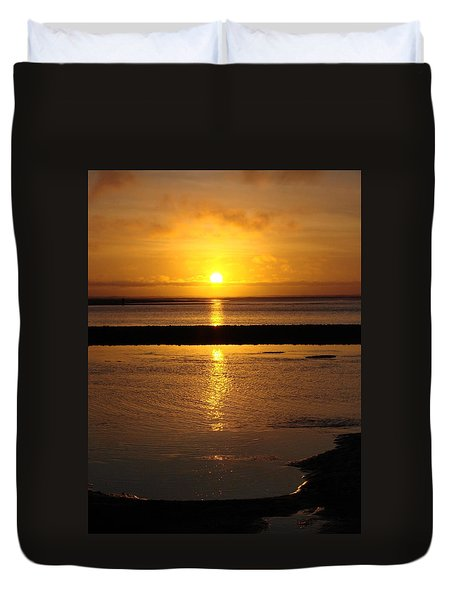 Sunkist Sunset Duvet Cover by Athena Mckinzie
