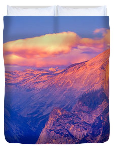 Sunlight Falling On A Mountain, Half Duvet Cover by Panoramic Images