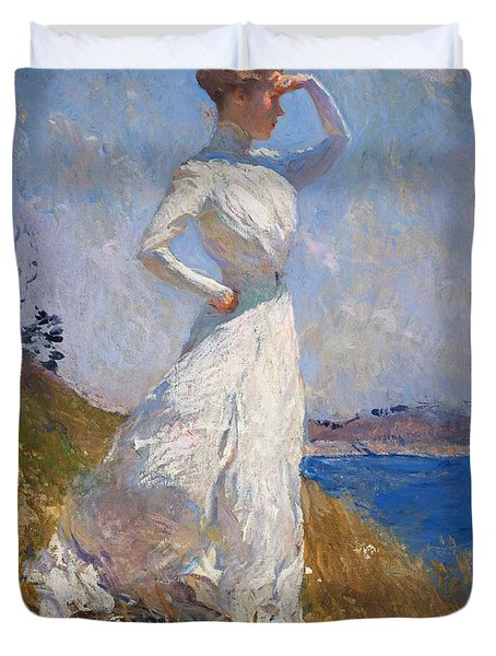 Sunlight Frank Weston Benson 1909 Duvet Cover by Movie Poster Prints