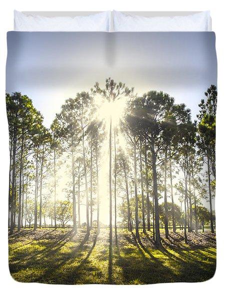 Sunlight In The Trees Duvet Cover