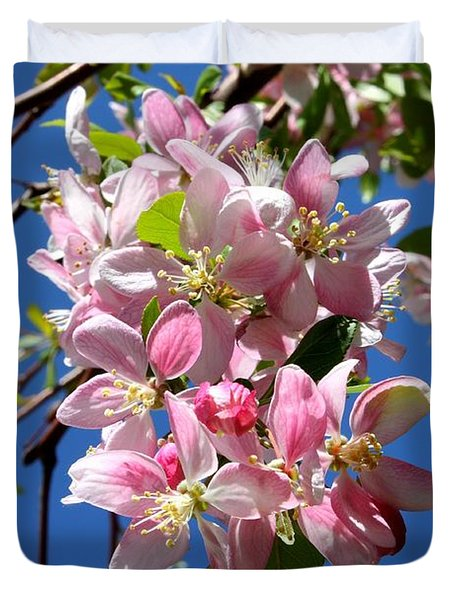 Sunlight On Spring Blossoms Duvet Cover by Carol Groenen