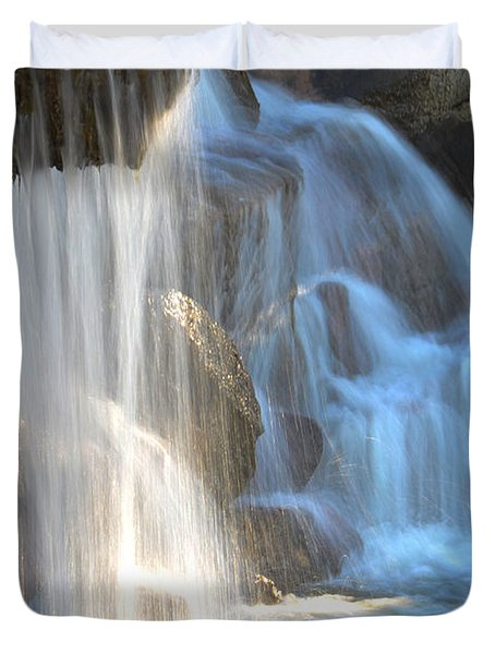 Sunlight On The Falls Duvet Cover