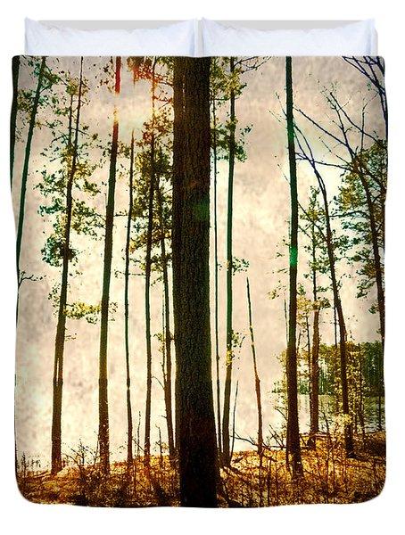 Sunlight Through The Trees Duvet Cover