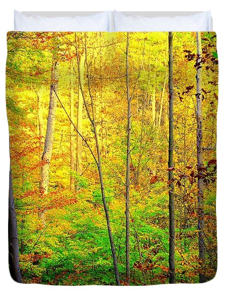 Sunlights Warmth Duvet Cover by Frozen in Time Fine Art Photography