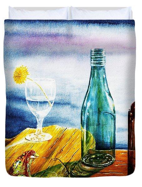 Sunlit Bottles Duvet Cover