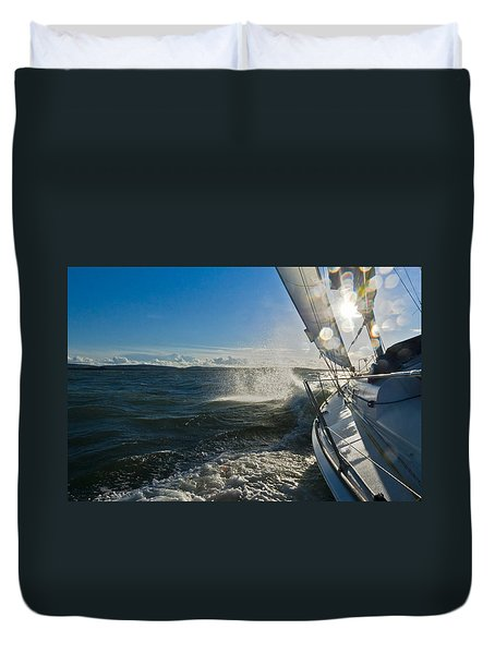 Sunlit Bow Spray Duvet Cover by Gary Eason