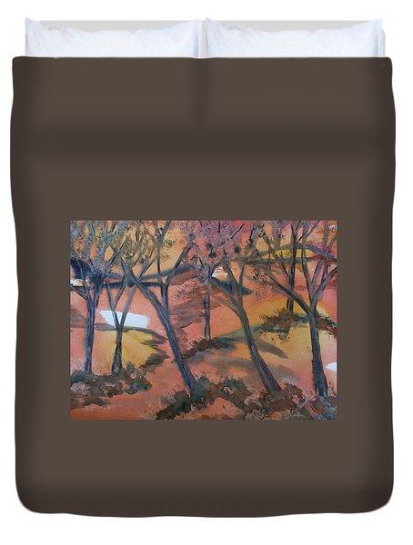 Sunlit Forest Duvet Cover