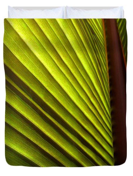 Sunlit Leaf Duvet Cover