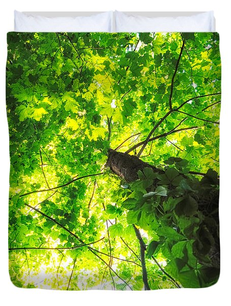 Sunlit Leaves Duvet Cover by Lars Lentz