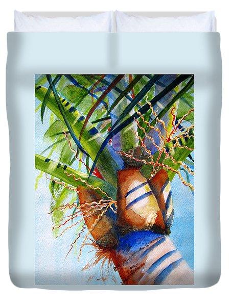 Sunlit Palm Duvet Cover by Carlin Blahnik