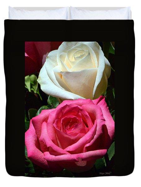 Sunlit Roses Duvet Cover