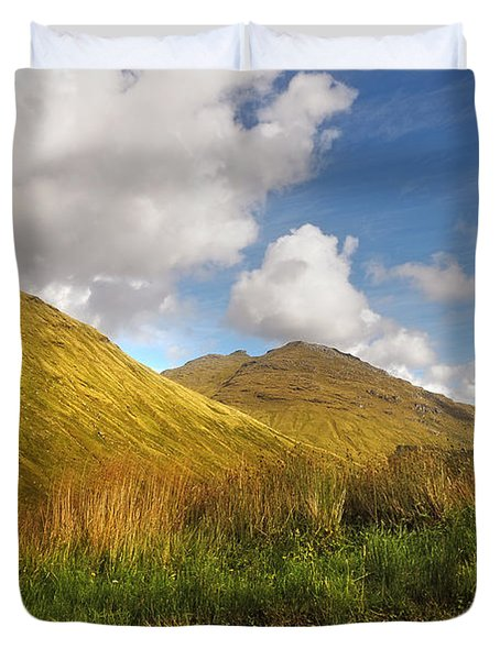 Sunny Day At Rest And Be Thankful. Scotland Duvet Cover by Jenny Rainbow