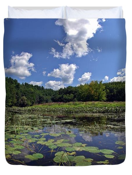 Sunny Day On The Merrimack Duvet Cover by Rick Frost