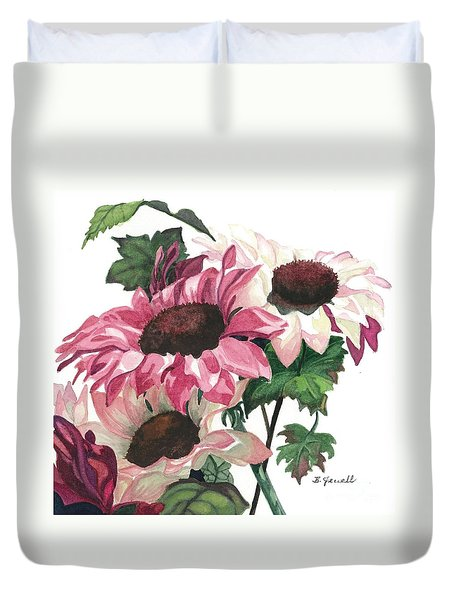Duvet Cover featuring the painting Sunny Delight by Barbara Jewell