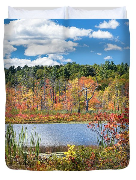 Sunny Fall Day Duvet Cover by Bill Wakeley
