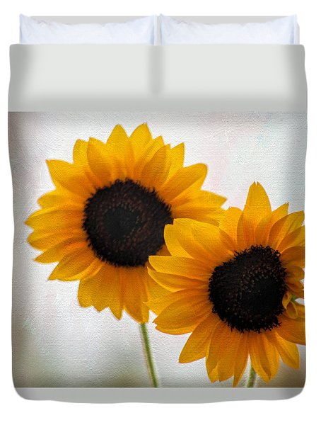 Sunny Flower On A Rainy Day Duvet Cover