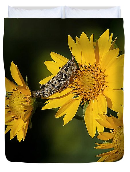 Sunny Hopper Duvet Cover by Ernie Echols