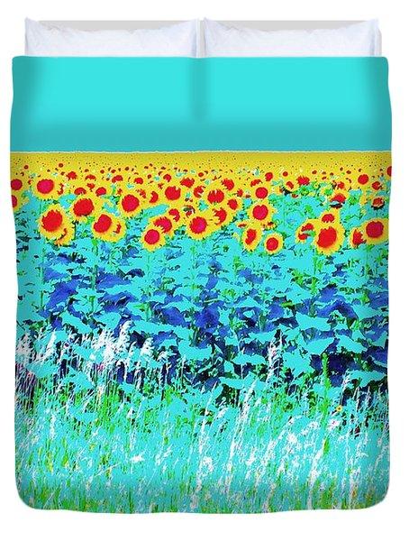 Sunny Kansas Duvet Cover by Ann Johndro-Collins