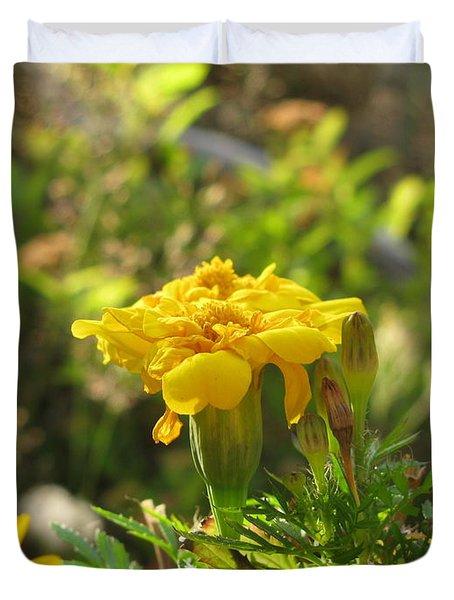 Sunny Marigold Duvet Cover by Leone Lund