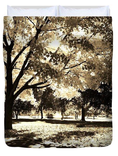Sunny October Duvet Cover