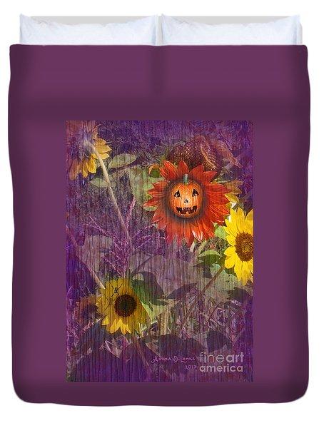 Sunny Pumpkin Duvet Cover by Audra D Lemke