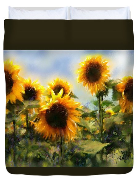 Sunny-side Up Duvet Cover by Colleen Taylor