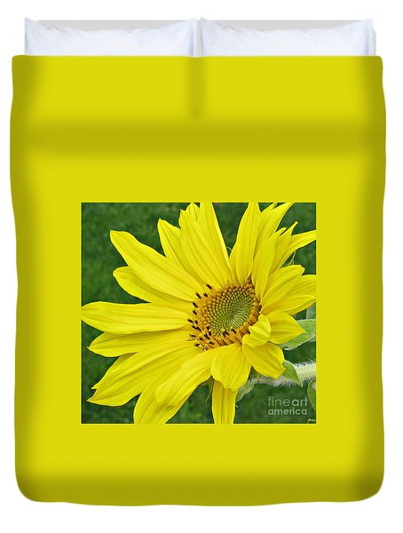 Duvet Cover featuring the photograph Sunny Side Up by Janice Westerberg