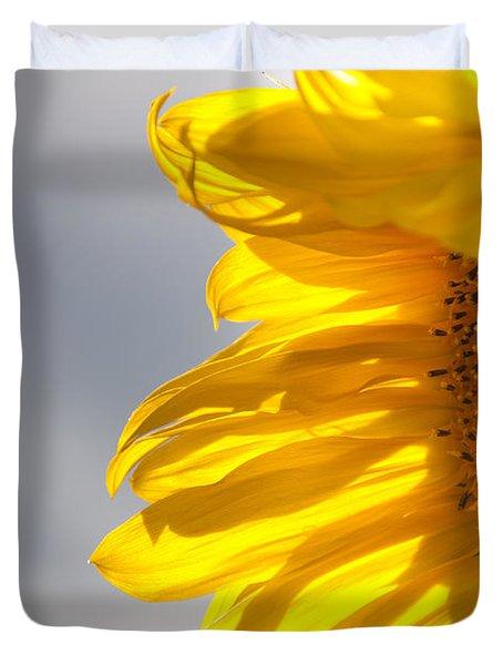 Sunny Sunflower Duvet Cover by Cheryl Baxter