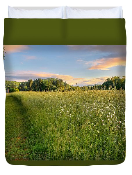 Sunny Valley Sunrise Duvet Cover