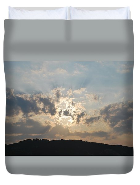 Duvet Cover featuring the photograph Sunrise 1 by George Katechis