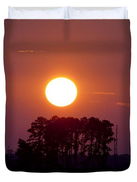 Sunrise Along The Potomac Duvet Cover