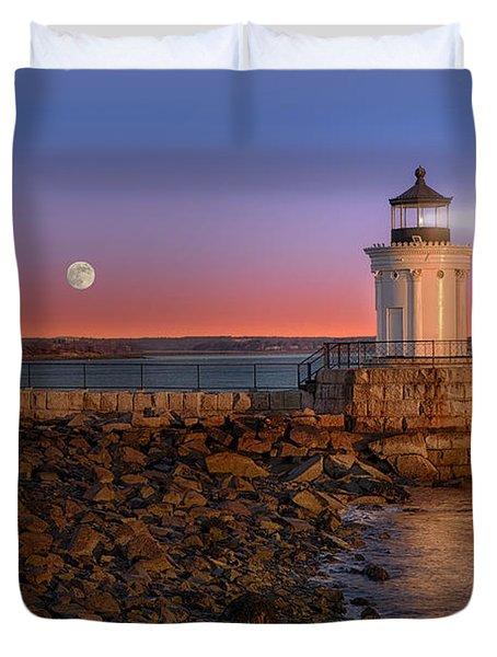 Sunrise At Bug Light Duvet Cover by Susan Candelario