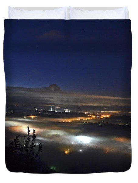 Sunrise At Buzzard's Bluff Duvet Cover