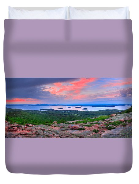 Sunrise At  Cadillac Pano  Duvet Cover