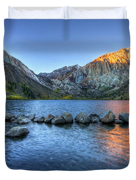 Sunrise At Convict Lake Duvet Cover