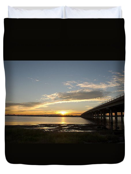 Sunrise At Corpus Christi Duvet Cover