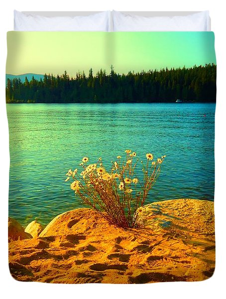 Sunrise At Daisy Lake Duvet Cover