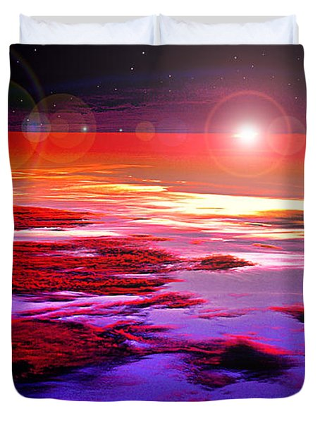 Sunrise At Fourty Thousand  Duvet Cover