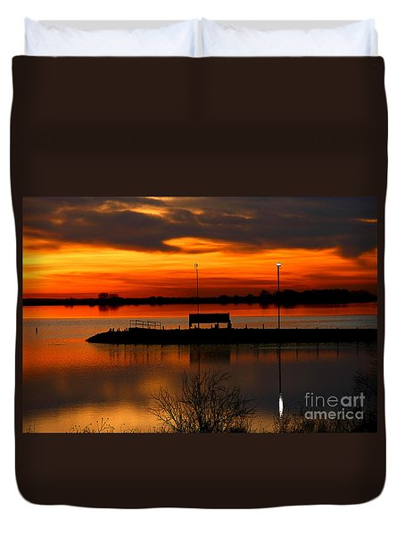Sunrise At Jackson Duvet Cover