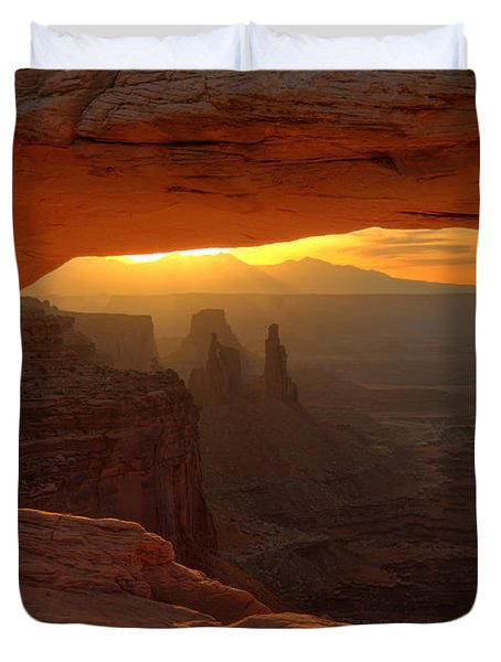 Sunrise At Mesa Arch 2 Duvet Cover