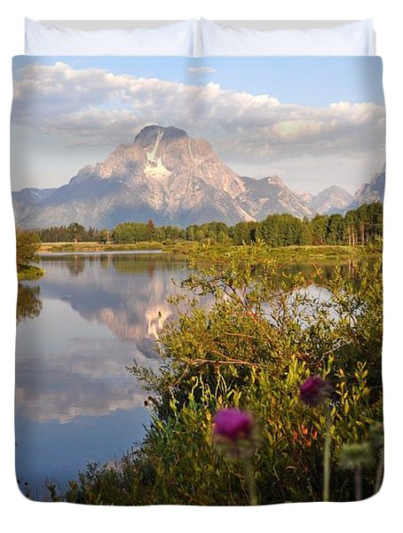 Sunrise At Oxbow Bend 5 Duvet Cover by Marty Koch