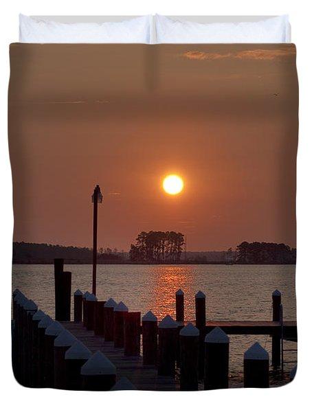Sunrise At Piney Point Maryland Duvet Cover