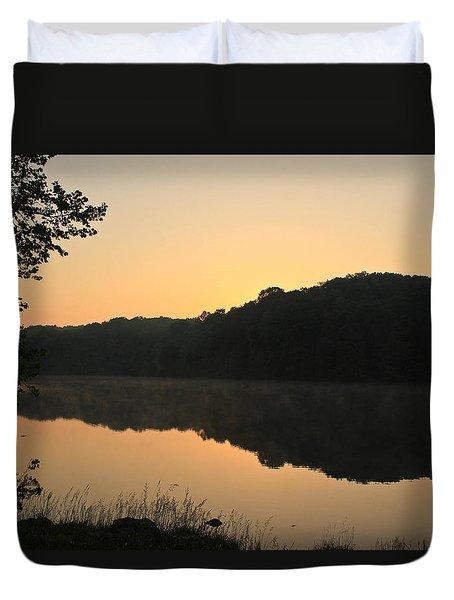Sunrise At Rose Lake Duvet Cover