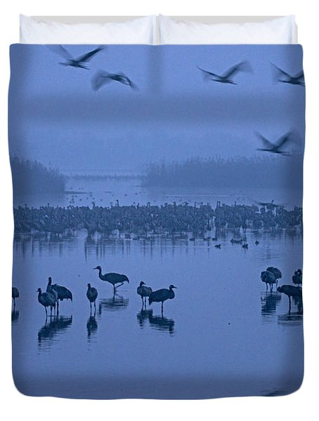 Sunrise Over The Hula Valley Israel 4 Duvet Cover