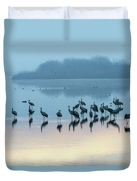 Sunrise Over The Hula Valley Israel 5 Duvet Cover