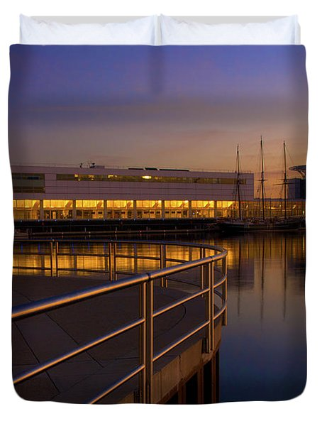 Sunrise At The Lakefront Duvet Cover by Jonah  Anderson