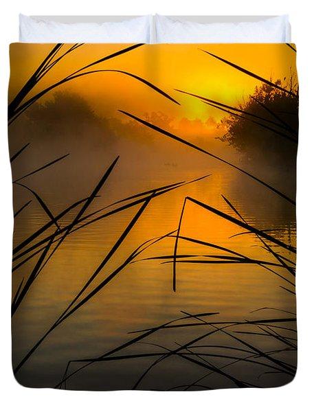 Sunrise At The Sepulveda Dam Wildlife Reserve Duvet Cover