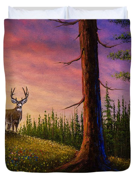 Sunrise Buck Duvet Cover by C Steele